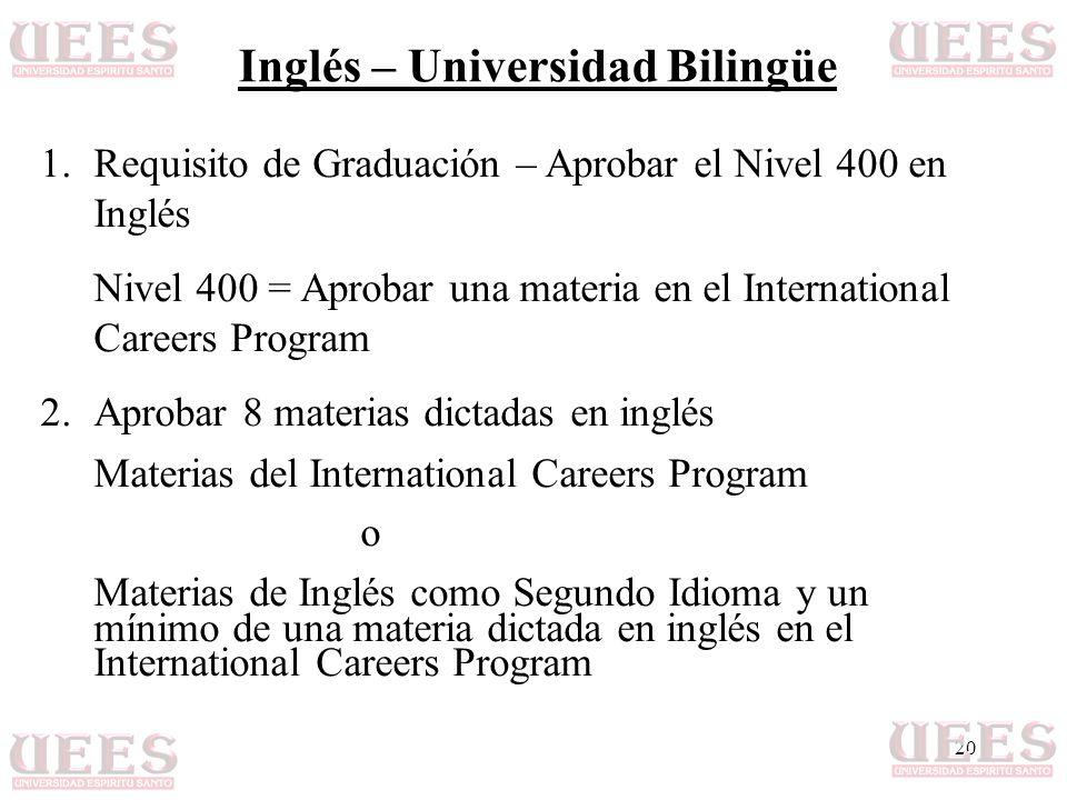 Inglés – Universidad Bilingüe