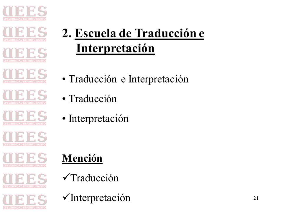 2. Escuela de Traducción e Interpretación