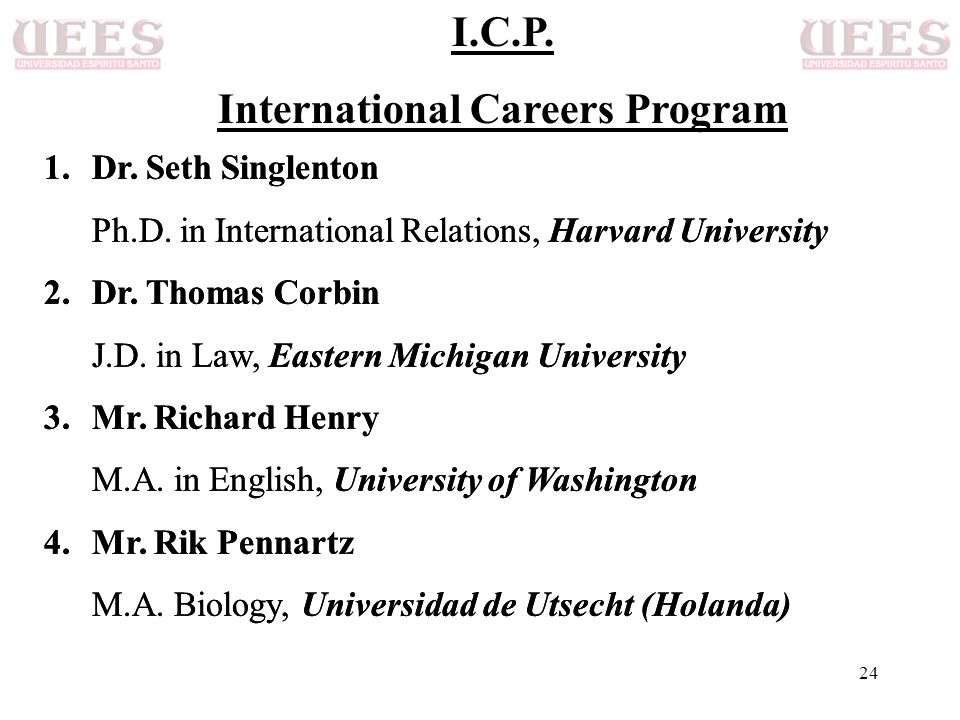 International Careers Program