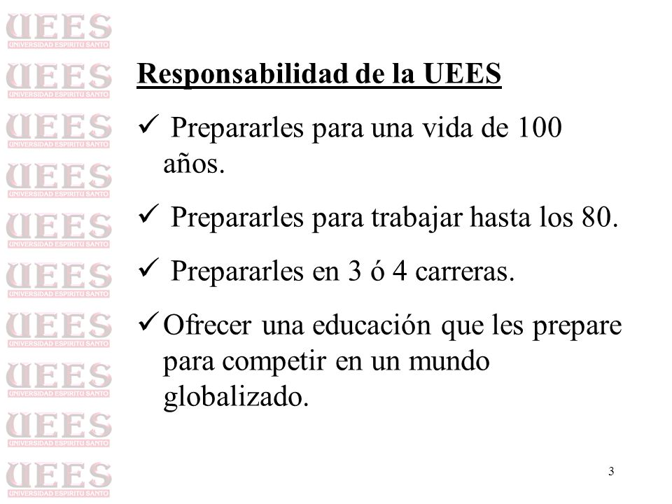 Responsabilidad de la UEES