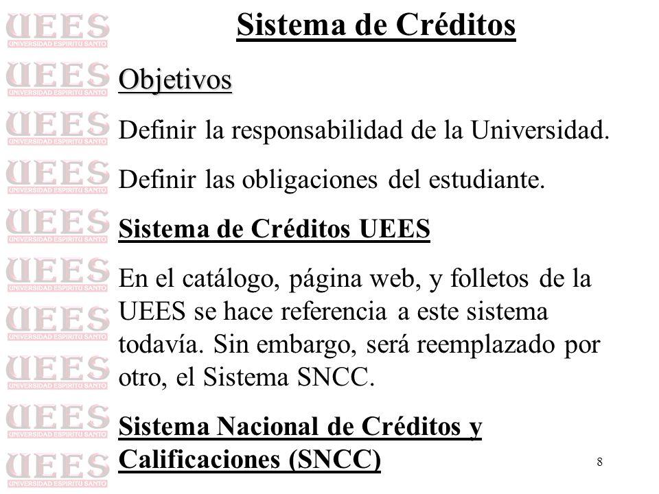 Sistema de Créditos Objetivos