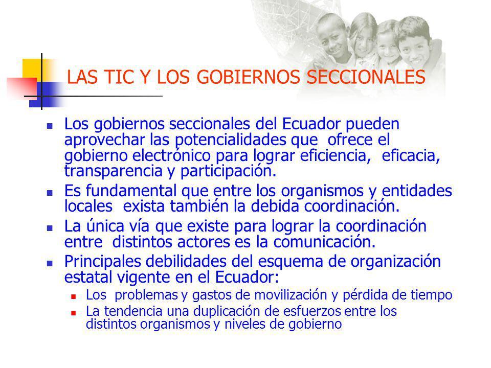 LAS TIC Y LOS GOBIERNOS SECCIONALES