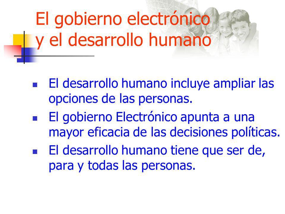 El gobierno electrónico y el desarrollo humano