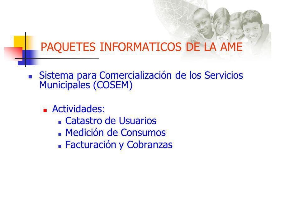 PAQUETES INFORMATICOS DE LA AME