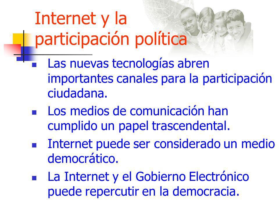 Internet y la participación política