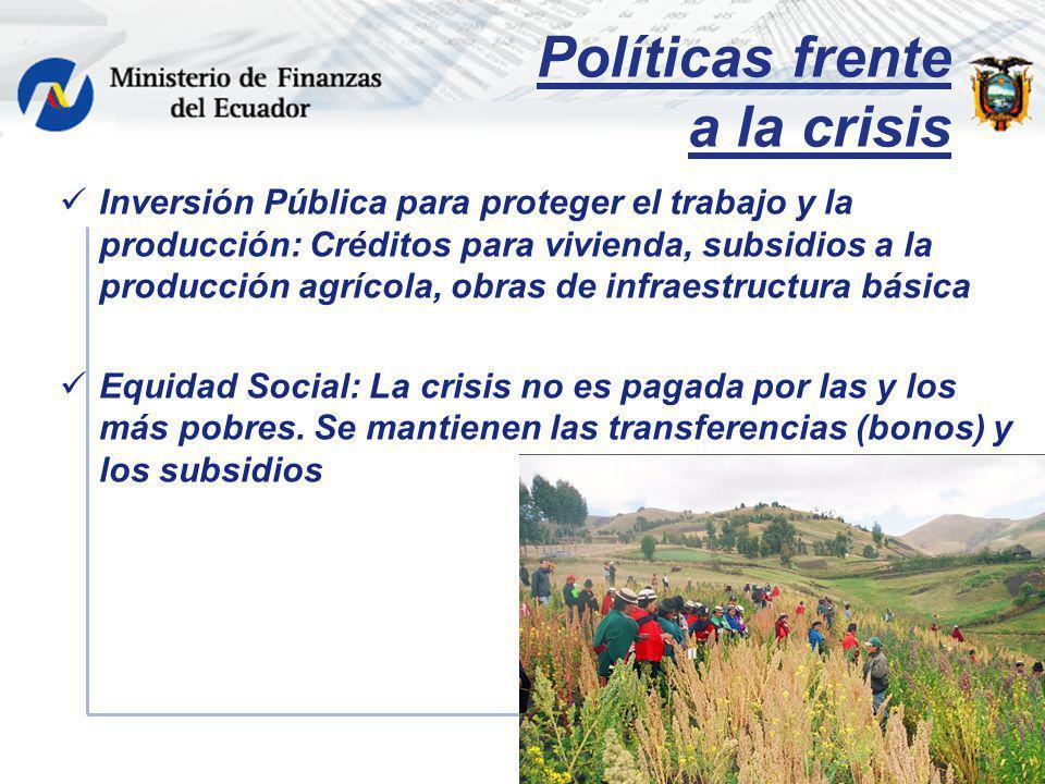 Políticas frente a la crisis
