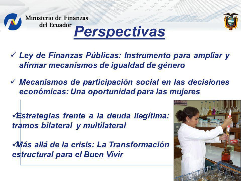Perspectivas Ley de Finanzas Públicas: Instrumento para ampliar y afirmar mecanismos de igualdad de género.