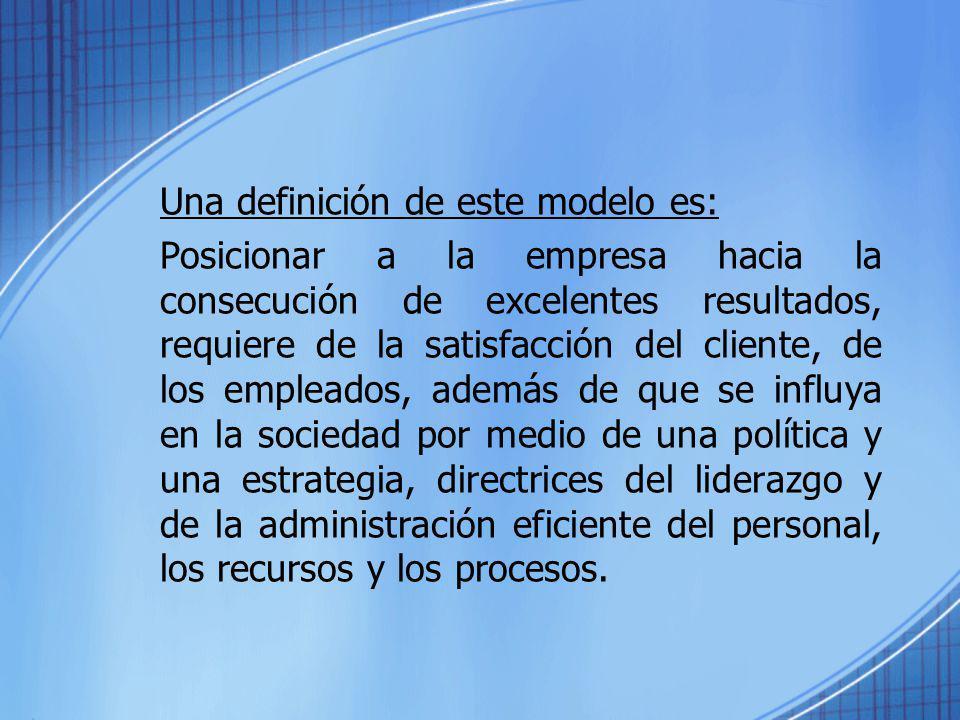 Una definición de este modelo es: