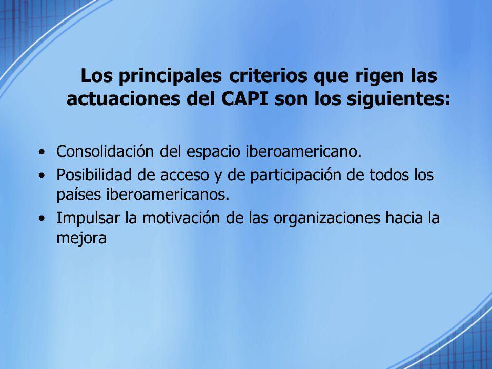 Los principales criterios que rigen las actuaciones del CAPI son los siguientes: