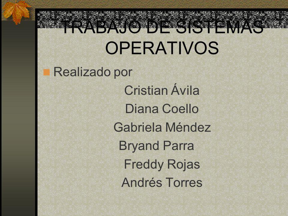 TRABAJO DE SISTEMAS OPERATIVOS
