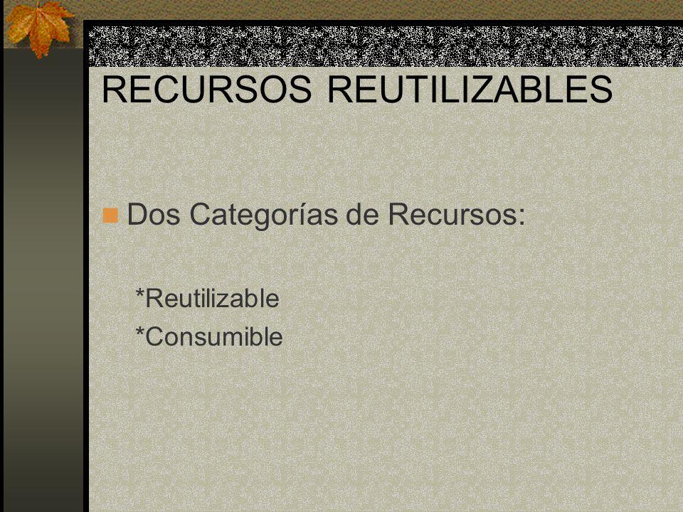 RECURSOS REUTILIZABLES