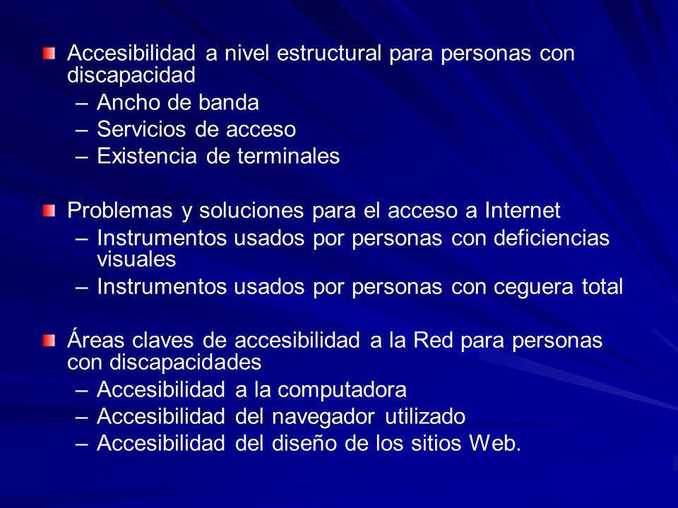 Accesibilidad a nivel estructural para personas con discapacidad