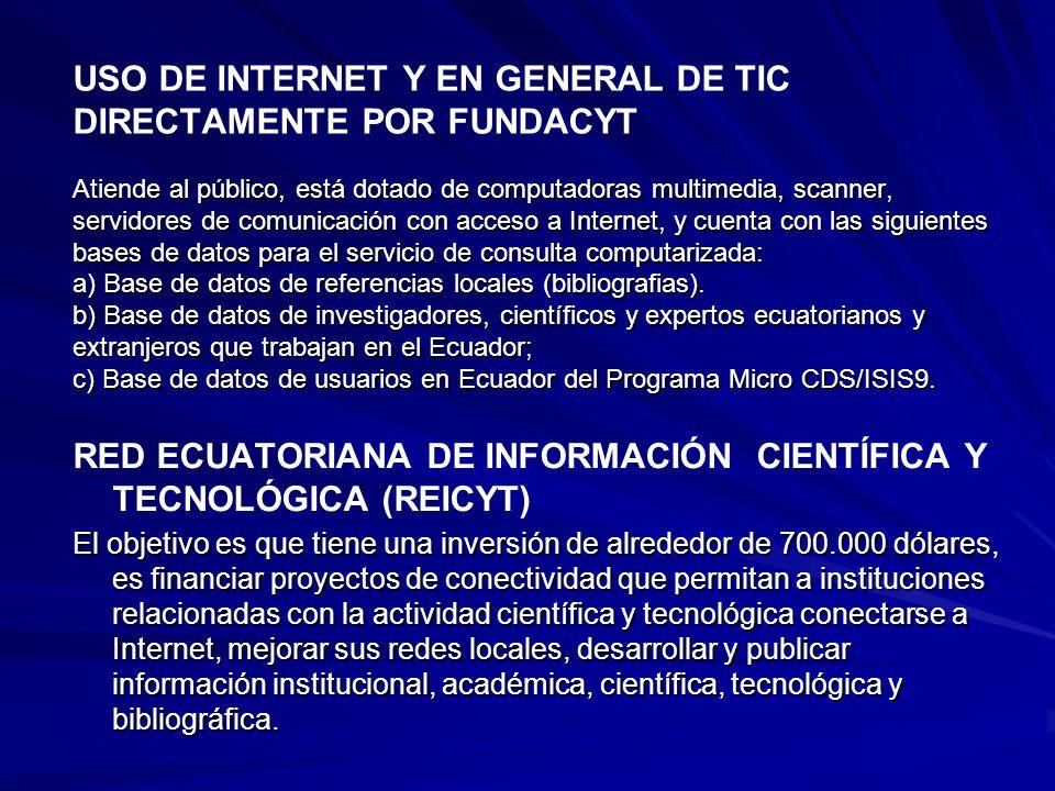 RED ECUATORIANA DE INFORMACIÓN CIENTÍFICA Y TECNOLÓGICA (REICYT)
