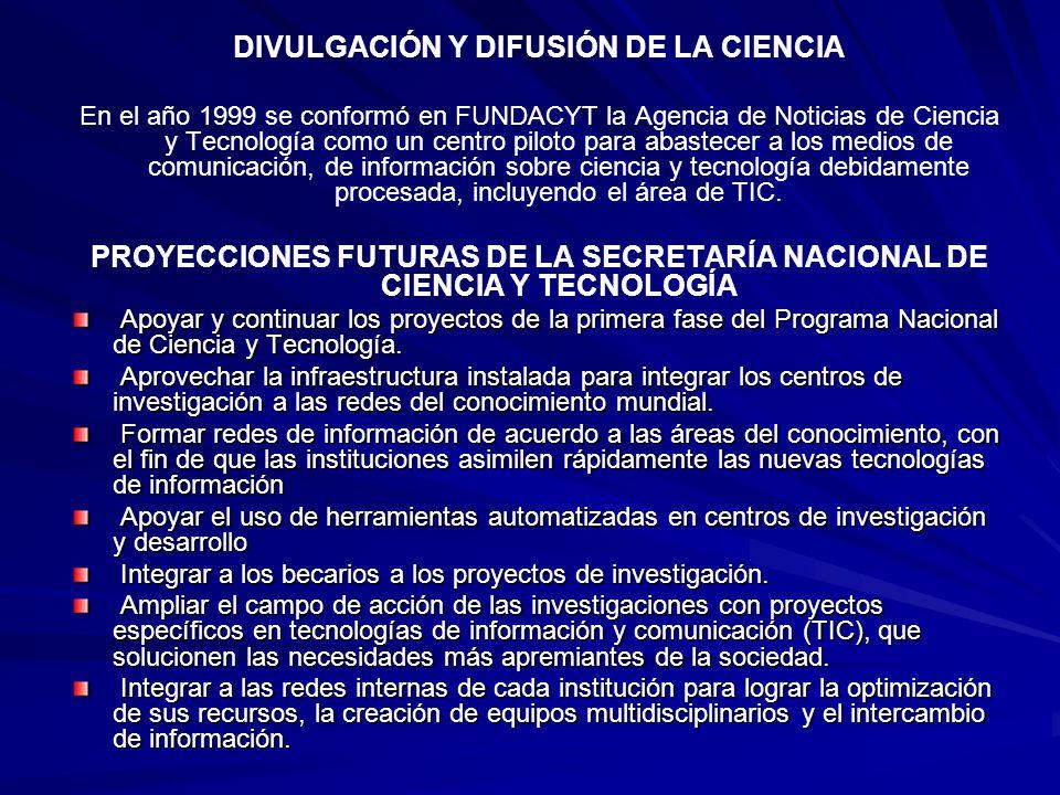 DIVULGACIÓN Y DIFUSIÓN DE LA CIENCIA