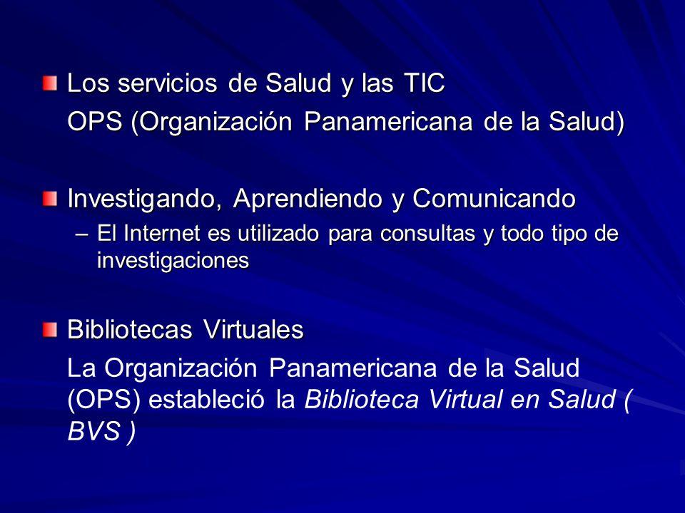 Los servicios de Salud y las TIC