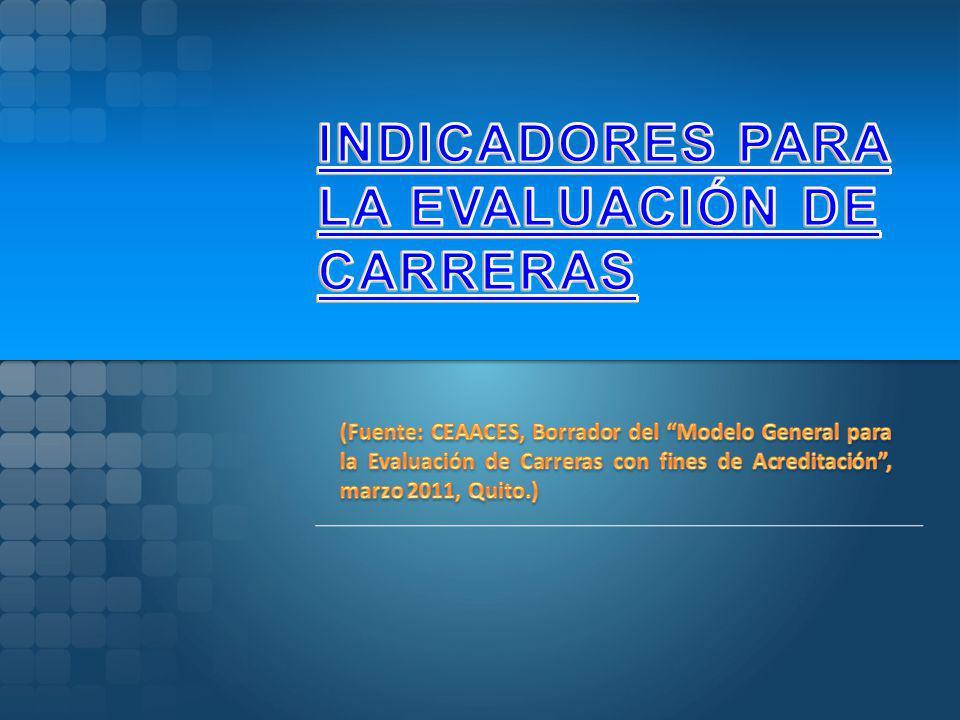 INDICADORES PARA LA EVALUACIÓN DE CARRERAS