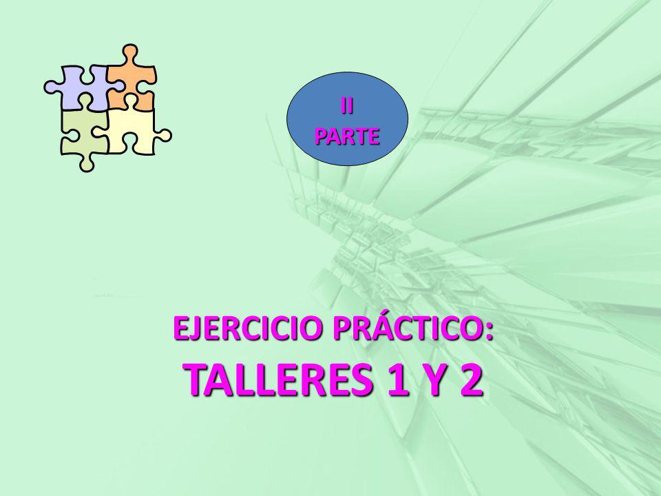 EJERCICIO PRÁCTICO: TALLERES 1 Y 2 II PARTE