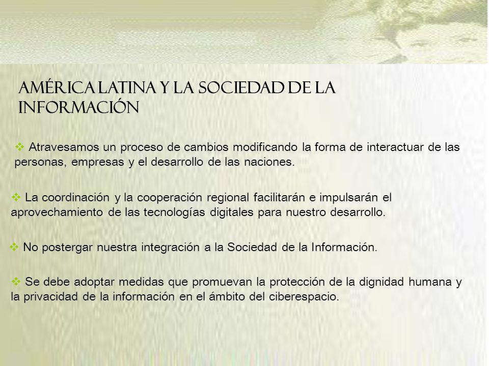 América Latina y la Sociedad de la Información