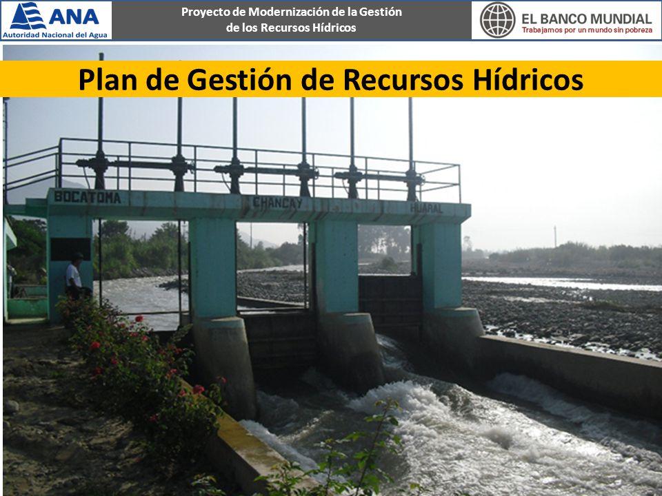 Plan de Gestión de Recursos Hídricos
