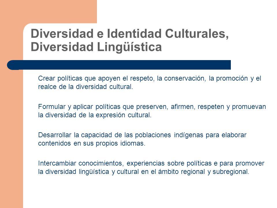 Diversidad e Identidad Culturales, Diversidad Lingüística