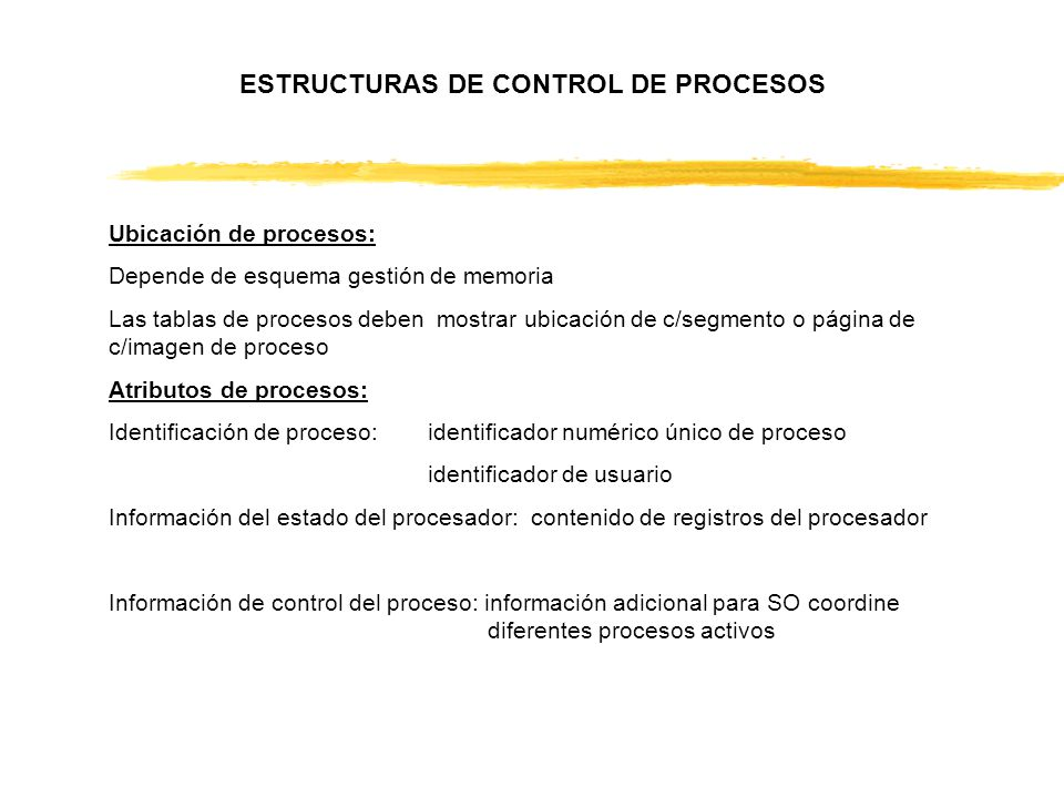 ESTRUCTURAS DE CONTROL DE PROCESOS