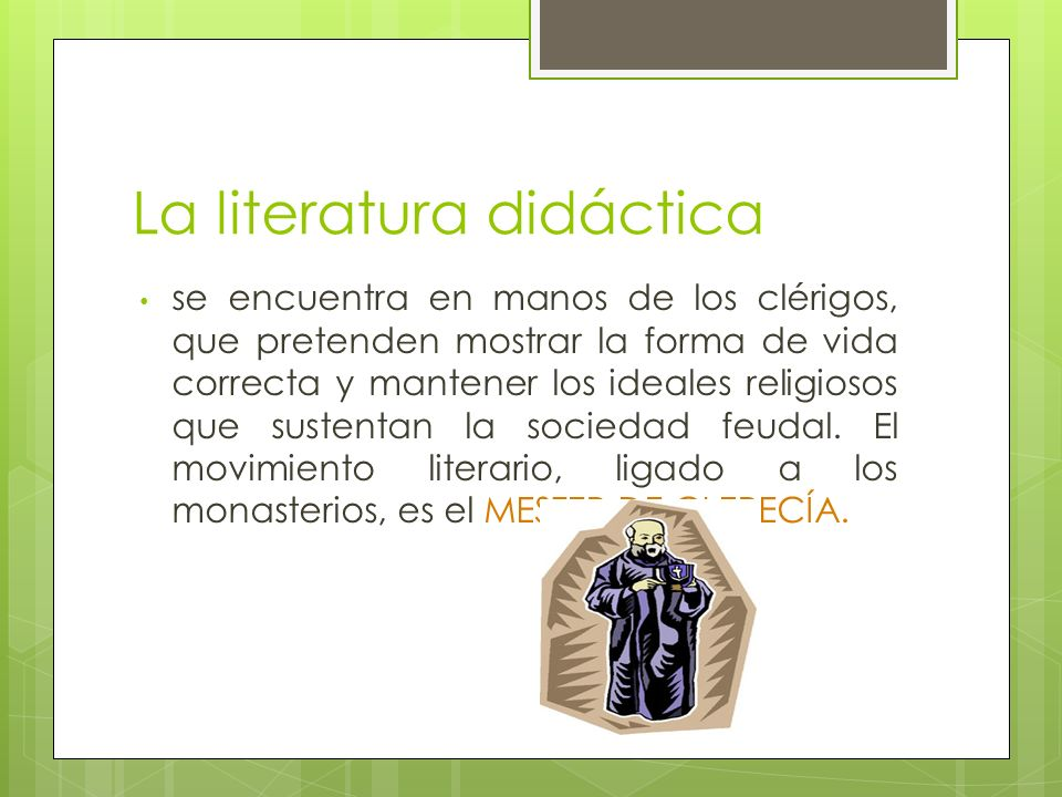 La literatura didáctica