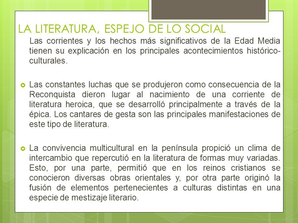 LA LITERATURA, ESPEJO DE LO SOCIAL