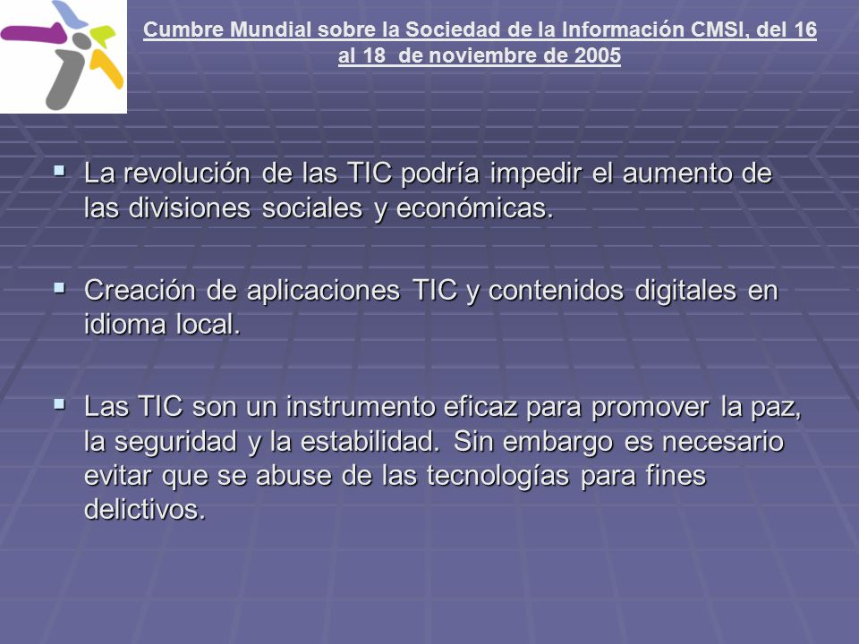 Creación de aplicaciones TIC y contenidos digitales en idioma local.