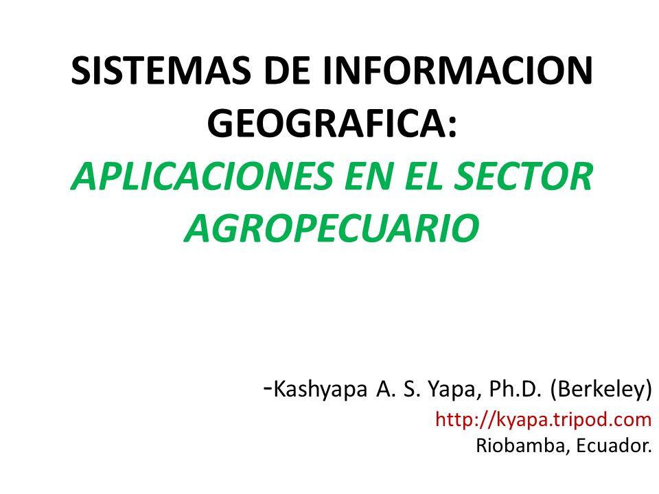 SISTEMAS DE INFORMACION GEOGRAFICA: APLICACIONES EN EL SECTOR AGROPECUARIO