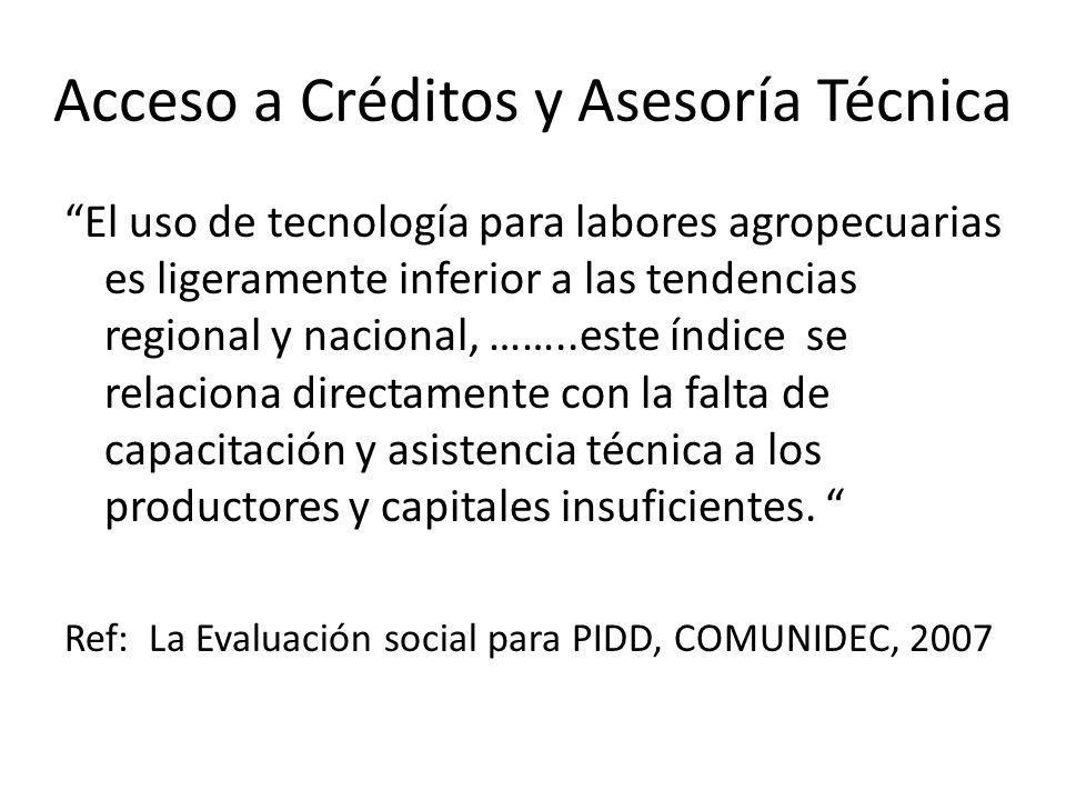 Acceso a Créditos y Asesoría Técnica