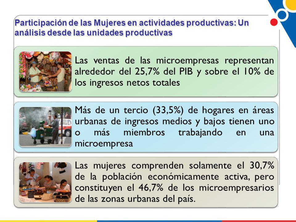 Participación de las Mujeres en actividades productivas: Un análisis desde las unidades productivas