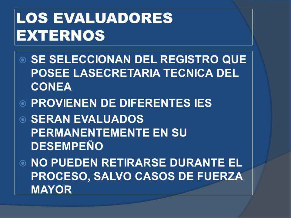 LOS EVALUADORES EXTERNOS