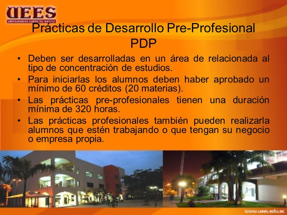 Prácticas de Desarrollo Pre-Profesional PDP