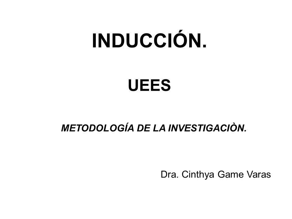 INDUCCIÓN. UEES METODOLOGÍA DE LA INVESTIGACIÒN.