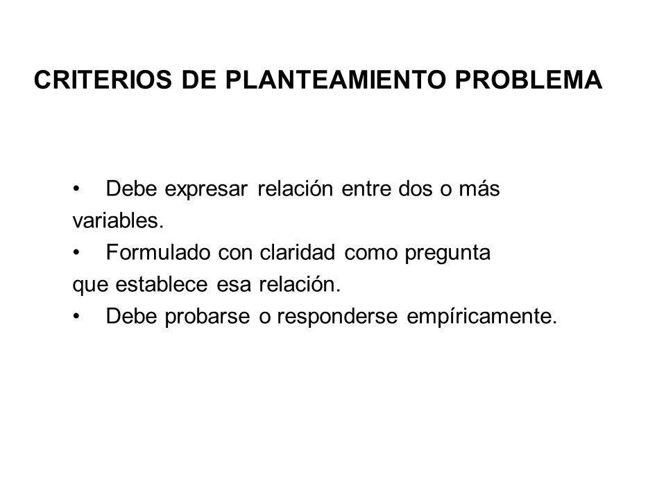 CRITERIOS DE PLANTEAMIENTO PROBLEMA