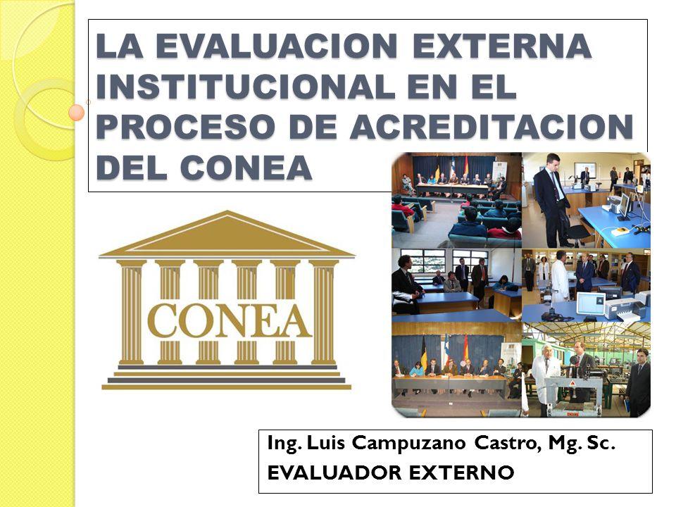 Ing. Luis Campuzano Castro, Mg. Sc. EVALUADOR EXTERNO