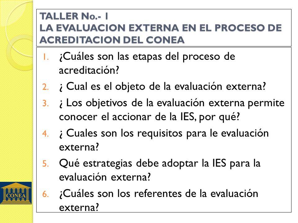 ¿Cuáles son las etapas del proceso de acreditación