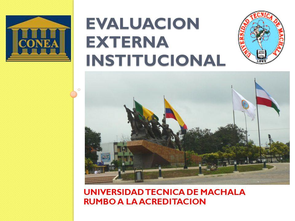 EVALUACION EXTERNA INSTITUCIONAL