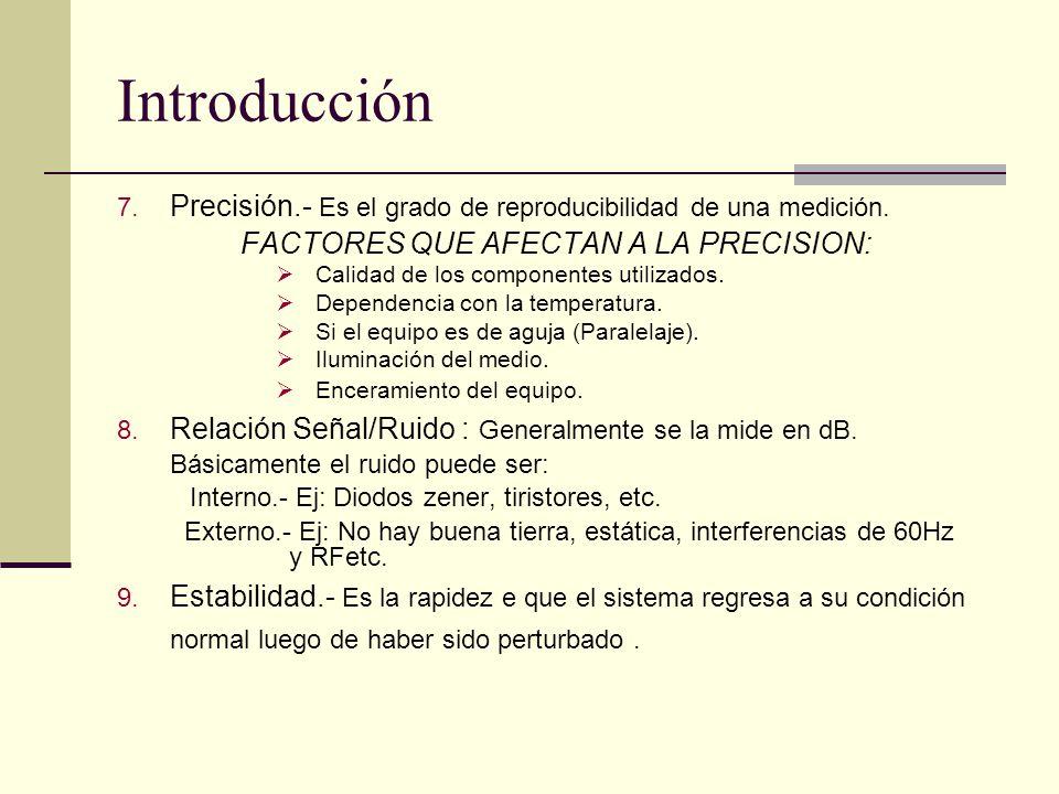FACTORES QUE AFECTAN A LA PRECISION: