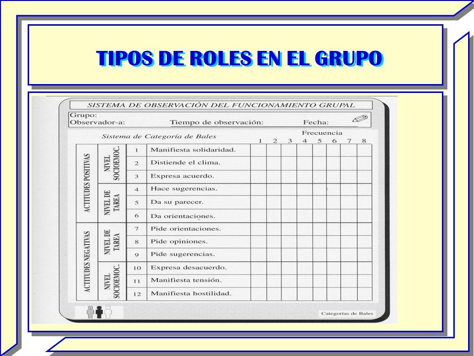 TIPOS DE ROLES EN EL GRUPO