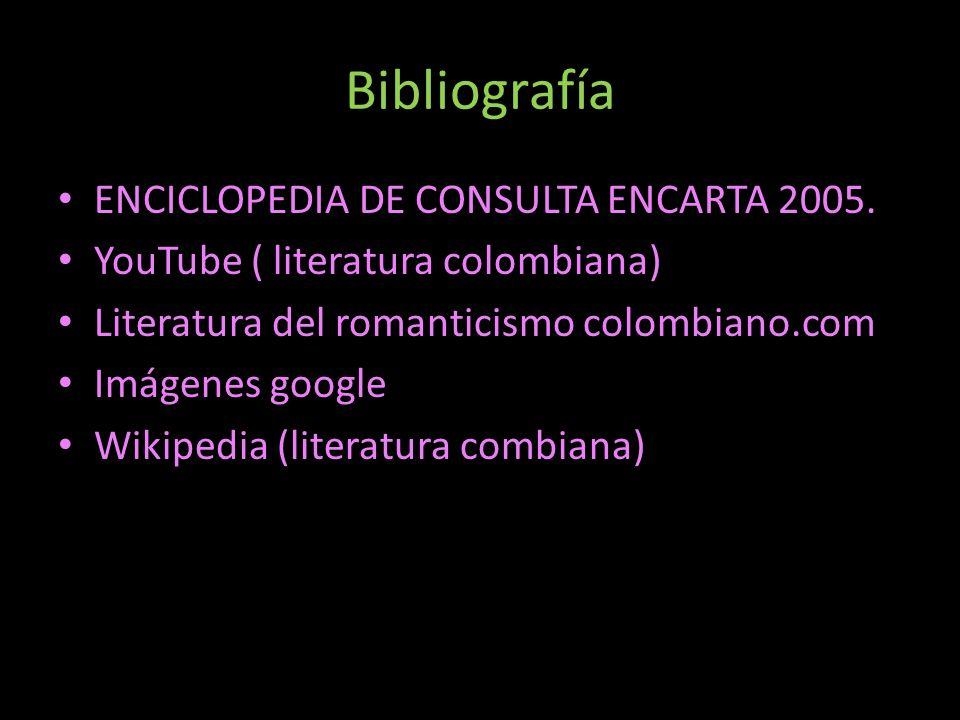 Bibliografía ENCICLOPEDIA DE CONSULTA ENCARTA 2005.
