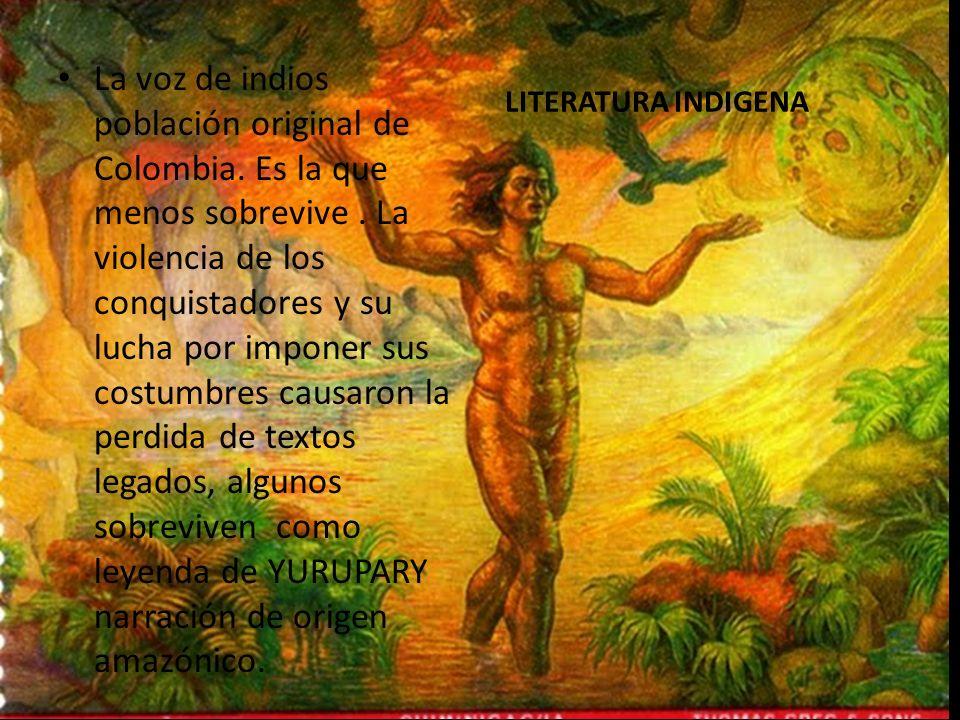 La voz de indios población original de Colombia