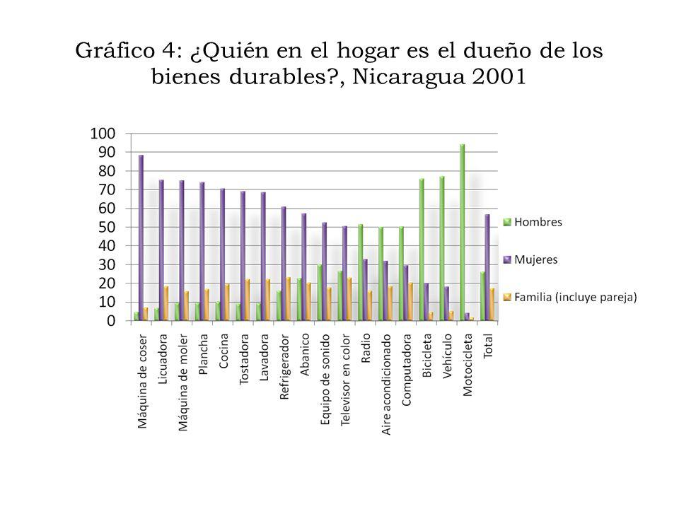 Gráfico 4: ¿Quién en el hogar es el dueño de los bienes durables