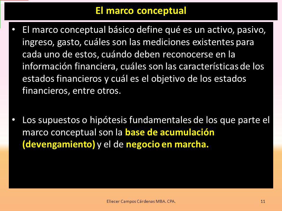 Eliecer Campos Cárdenas MBA. CPA.