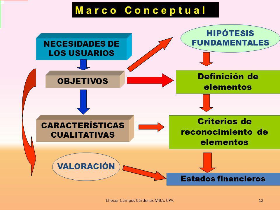 M a r c o C o n c e p t u a l Definición de elementos