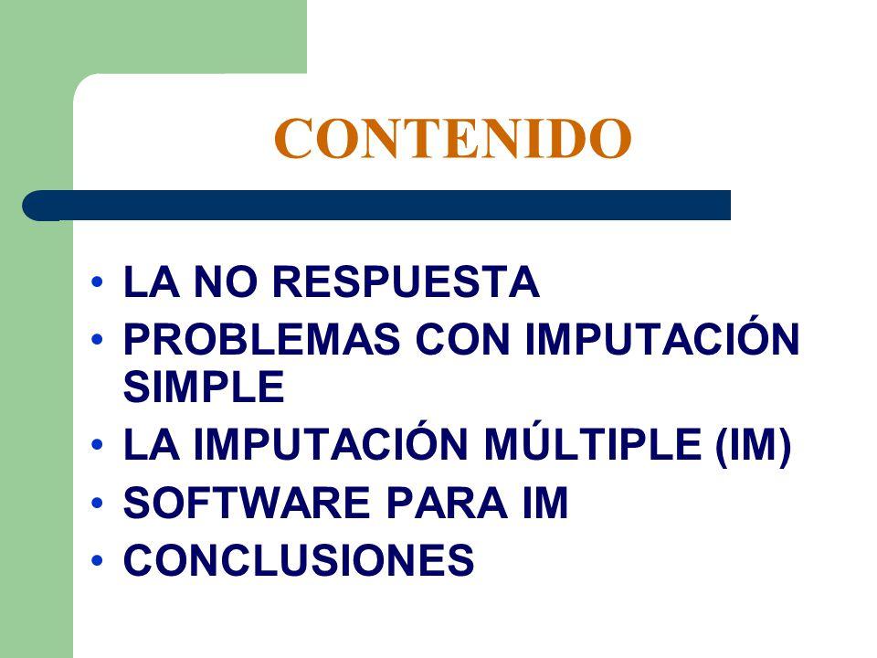 CONTENIDO LA NO RESPUESTA PROBLEMAS CON IMPUTACIÓN SIMPLE