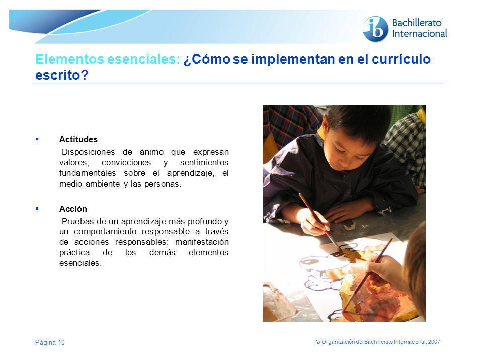 Elementos esenciales: ¿Cómo se implementan en el currículo escrito