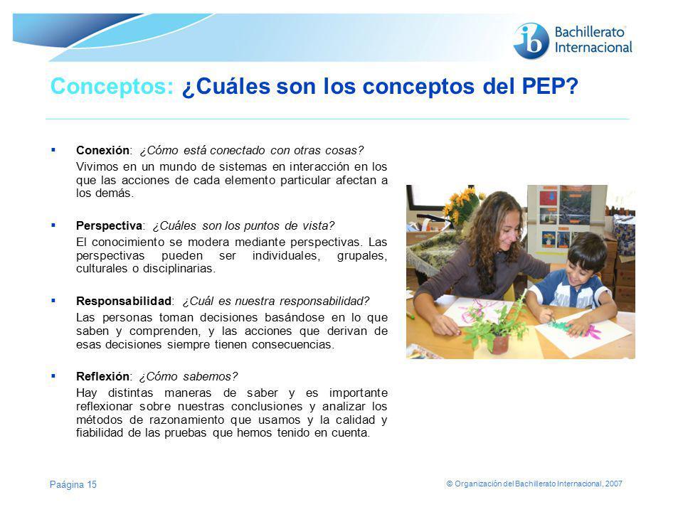 Conceptos: ¿Cuáles son los conceptos del PEP