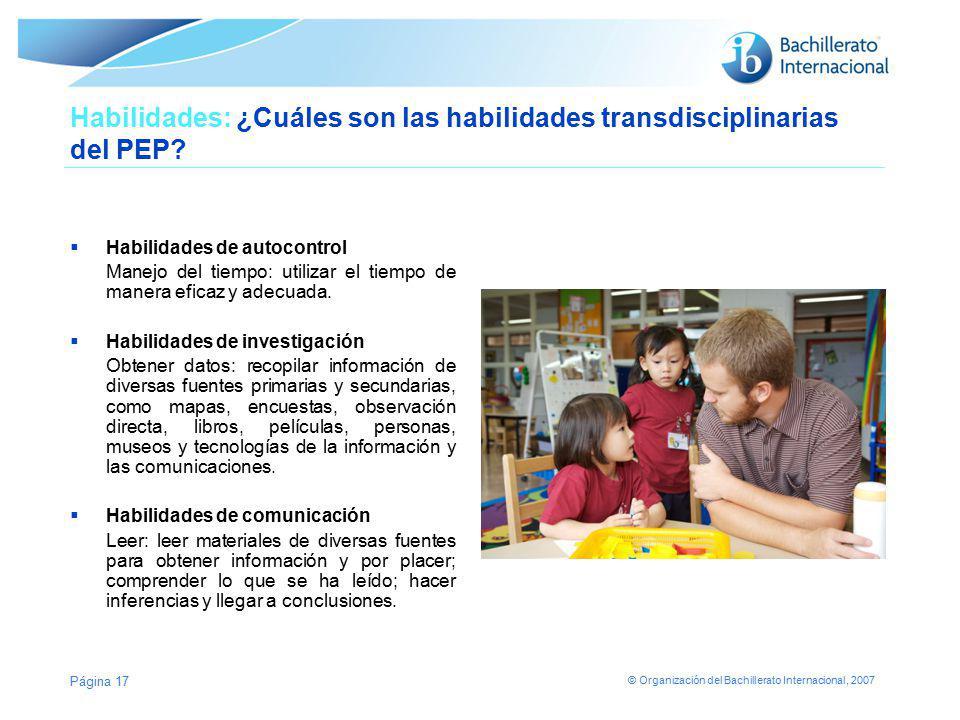 Habilidades: ¿Cuáles son las habilidades transdisciplinarias del PEP