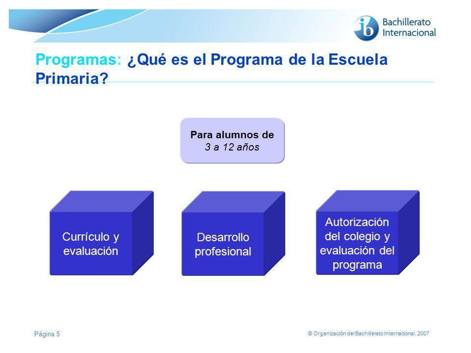 Programas: ¿Qué es el Programa de la Escuela Primaria